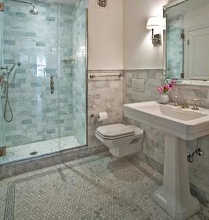 Hexagon Mosaic Tiles Mosaic Tiles Bathroom Floor