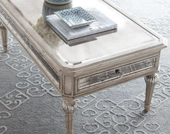 Vivie Mirrored Coffee Table traditional coffee tables