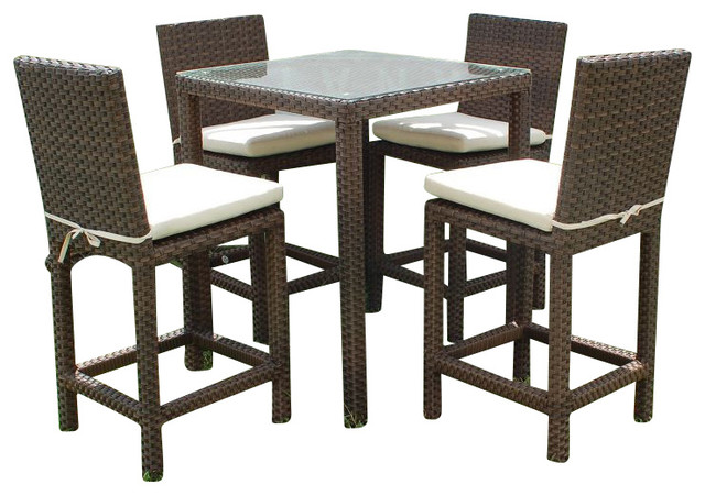 monza wicker outdoor bar set contemporary living room