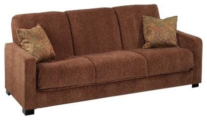 Convert-A-Couch Chenille Sleeper Sofa modern-futons
