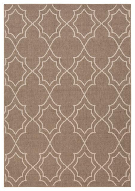 "Surya Alfresco ALF-9587 (Taupe, Cream) 8'9"" Square Rug contemporary-area-rugs"