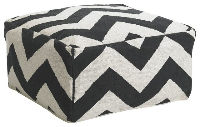 Zigzag Floor Pouf modern ottomans and cubes