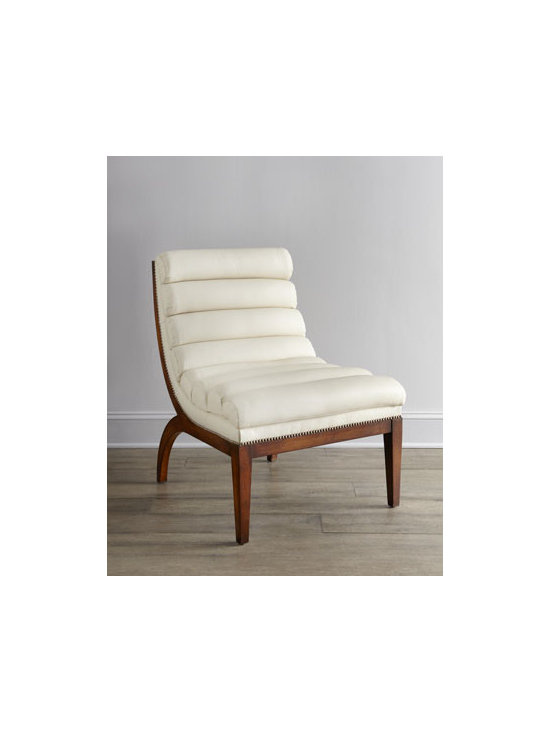 """Old Hickory Tannery - Old Hickory Tannery """"Tango"""" Leather Chair - What we love about this contemporary chair is the retro look of its """"tuck-and-roll"""" upholstery. Beechwood frame. Leather upholstery. 28""""W x 31""""D x 36""""T. Made in the USA of imported materials. Boxed weight, approximately 50 lbs. Please note that t..."""