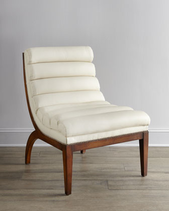 """Old Hickory Tannery """"Tango"""" Leather Chair traditional-chairs"""