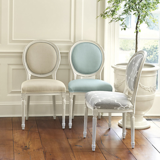 Bring Home Ballard Oval Louis Side Chair Traditional
