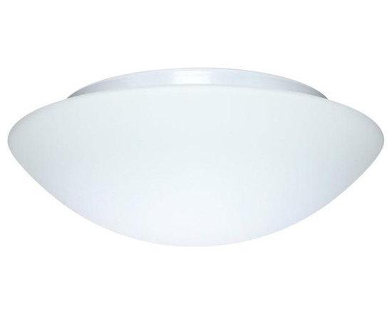 Besa Lighting 977107C Two Light White Bowl Flush Mount -