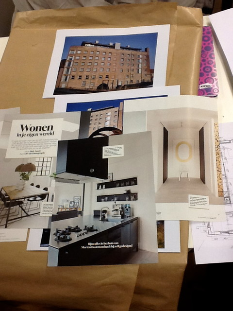 Final visualisation and moodboard for Interiorstylists contemporary
