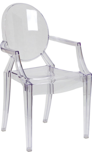 Philippe Starck Louis Ghost Style Transparent Arm Chair contemporary-accent-chairs