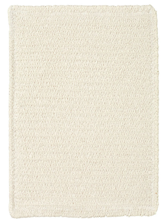 Chenille Creations rug in Cream - Create a comfy, cozy, and custom-made braided rug with Capel's Chenille Creations.  Strands of plush, all-natural, ultra soft cotton chenille weave together to create a soft and vibrant room accent.