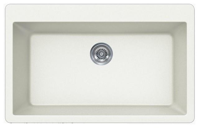 Undermount White Kitchen Sink : All Products / Kitchen / Kitchen Fixtures / Kitchen Sinks