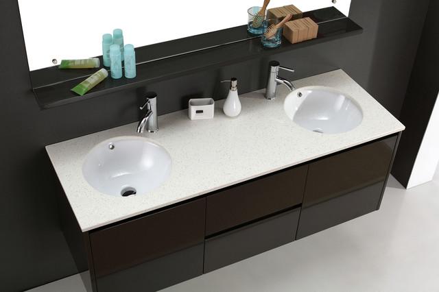 Wall Hung Bathroom Basins : Luxor - Wall Hung Double Basin Bathroom Vanities - Modern - Bathroom ...