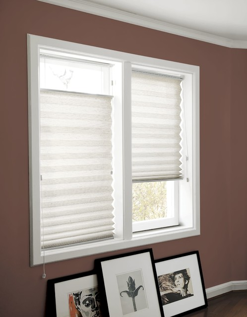 Smith and Noble Classic Pleated Shades traditional-window-treatments