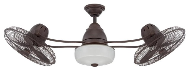 "Craftmade BW248AG6 48"" Dual Head Ceiling Fan with Blades"