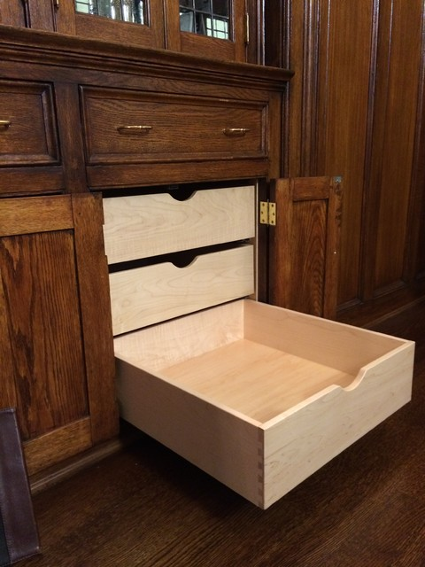 Custom drawers for a built in cabinet
