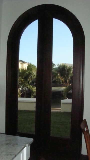 10 39 Ft Height Solid Mahogany Arched French Doors Traditional Front Doors Miami By