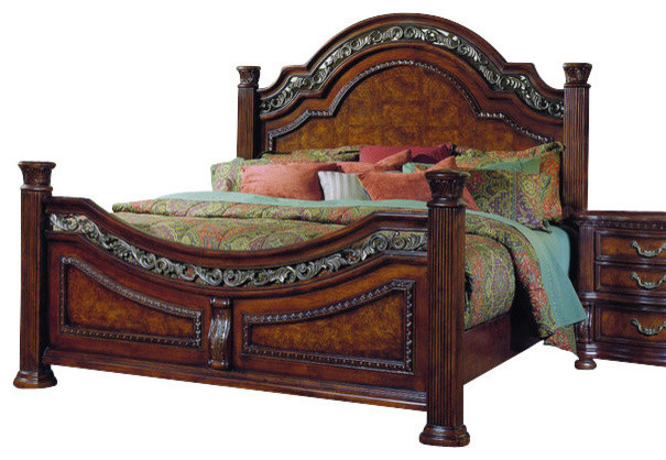 samuel lawrence furniture san marino eastern king panel bed in sanibel