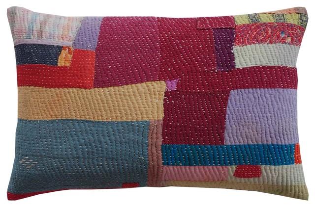 Pakistani Jogi Rali Square Patch by John Robshaw mediterranean-decorative-pillows