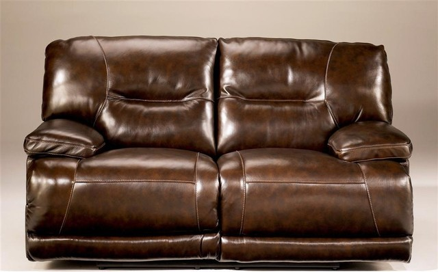 Reclining Loveseat in Chocolate (w/o Power) contemporary-love-seats