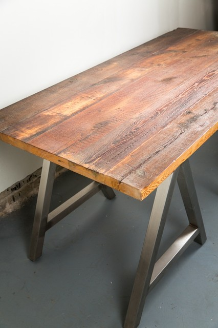 Reclaimed Sawhorse Desk - Contemporary - Desks And Hutches ...