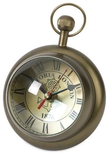 Barton Paper Weight Clock Eclectic Clocks By Posh