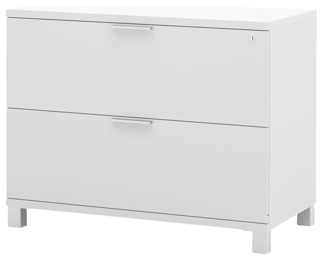 Bestar Pro Linea Assembled Lateral File In White