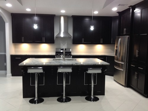 Black silver kitchen ideas for Black and silver kitchen ideas