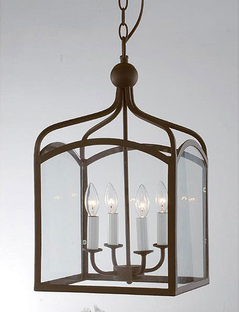 Antique Copper 4-Light Chandelier modern-chandeliers