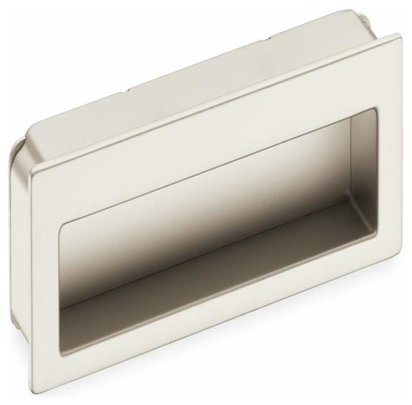 Schwinn Hardware Modern Flush Pull, 4 Inch Satin Nickel - Contemporary - Cabinet And Drawer ...