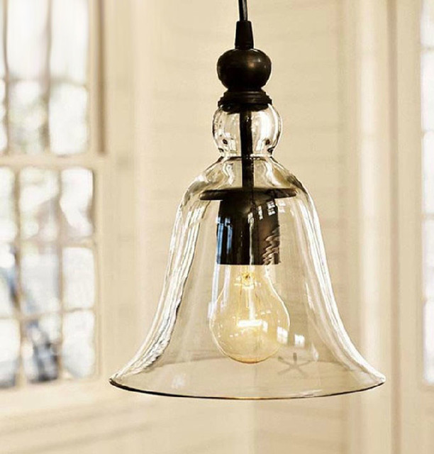 Loft Antique Clear Glass Bell Pendant Lighting