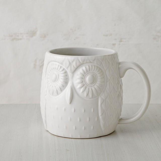 Figurative Owl Mug eclectic-dinnerware