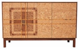 Iannone Design | Cork Mosaic Sideboard - Plaid modern-buffets-and-sideboards