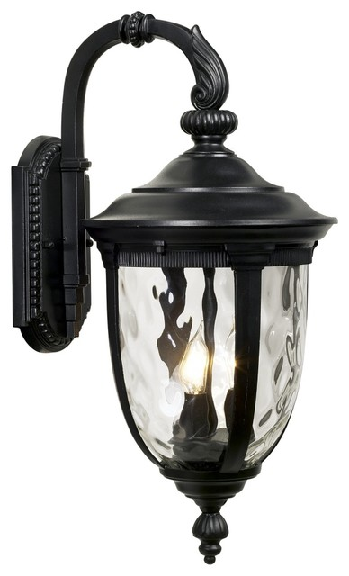 "Country - Cottage Bellagio™ 20 1/2"" High Black Outdoor Wall Light"