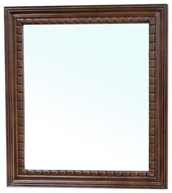 Solid Wood Frame Mirror Walnut Modern Bathroom Mirrors By Corbel Universe