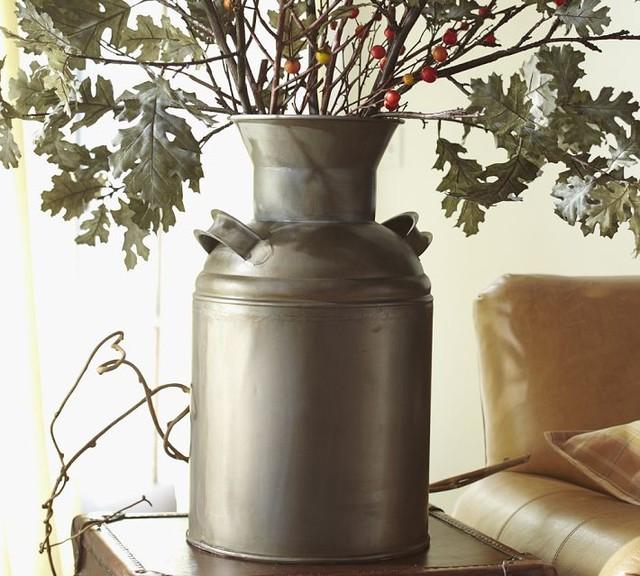 Rustic Milk Tin Eclectic Vases