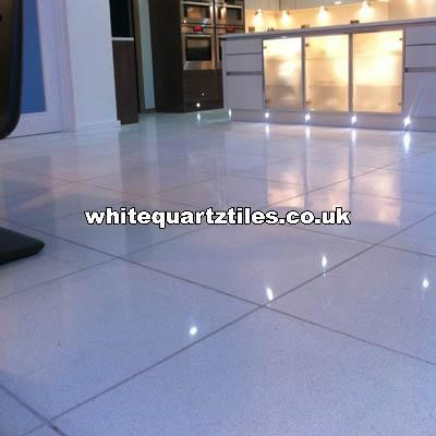 white quartz tiles modern wall and floor tile london by white