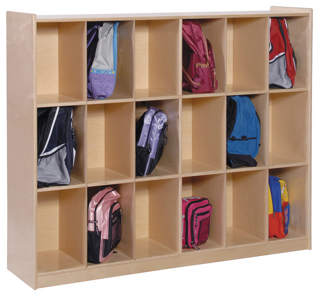 Steffywood Home Kids 12-Cubby Schoolbag Backpack Storage Cabinet Shelves Rack - Contemporary ...
