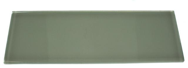 """Loft Seafoam Polished 4"""" X 12"""" Glass Tiles contemporary-tile"""