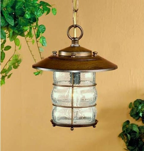 Grelha Earth One-Light Outdoor Pendant with Clear Glass traditional-outdoor-lighting