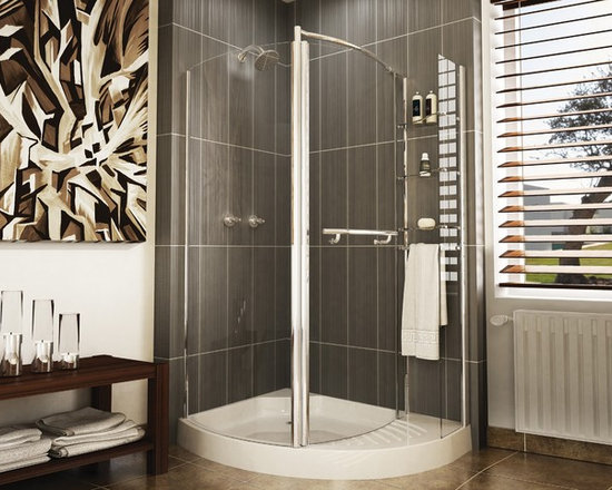 "Fleurco Banyo Turin Round 49"" x 38"" Frameless Shower Enclosure ETL48 - Watertight magnetic seal"