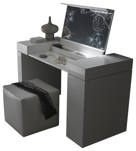 Rossetto Nightfly Dressing Table in White transitional-desks-and-hutches