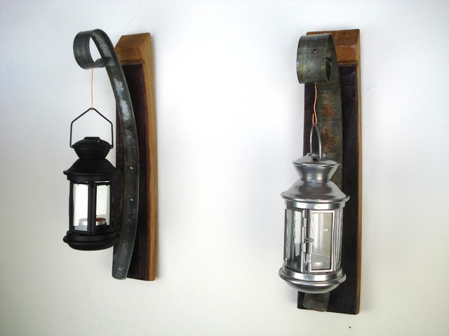Wall Sconces Candles Lantern : Wall Hanging Candle Holder with Lantern