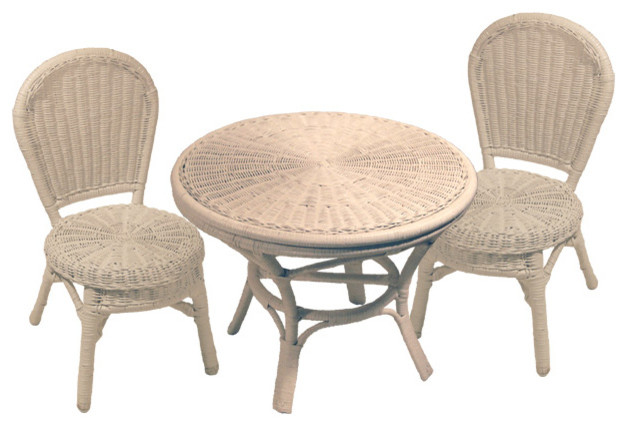 Childrens Wicker Table And Chairs