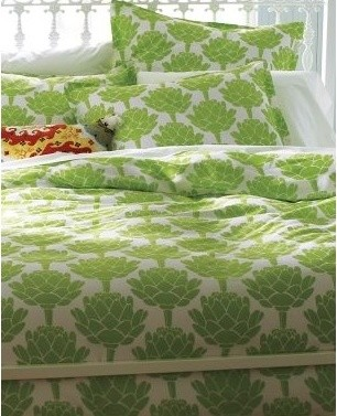 Artichokes Comforter Cover and Sham eclectic-pillowcases-and-shams