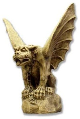 Chained Gargoyle of Turin Garden Statue modern-outdoor-decor