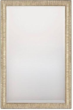 Textured Silver Frame Mirror traditional-wall-mirrors