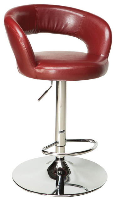 Standard Furniture Cosmo Dining Chair in Dark Red Leatherette traditional-dining-chairs