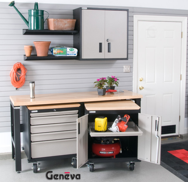... Home Tour Garage Space Geneva traditional-storage-units-and-cabinets
