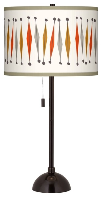 Tremble Giclee Glow Tiger Bronze Club Table Lamp midcentury-table-lamps