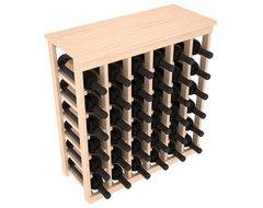 36 Bottle Kitchen Wine Rack in Ponderosa Pine, (Unstained) contemporary-wine-racks