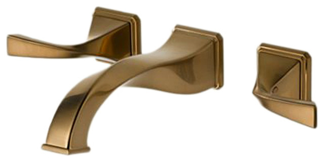 Brizo 65830LF-BZ Virage Brushed Bronze Wall-Mount Lavatory Faucet modern-bathroom-faucets-and-showerheads